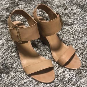 Steve Madden Neutral Wedge Sandal